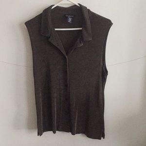 Corduroy sleeveless button down